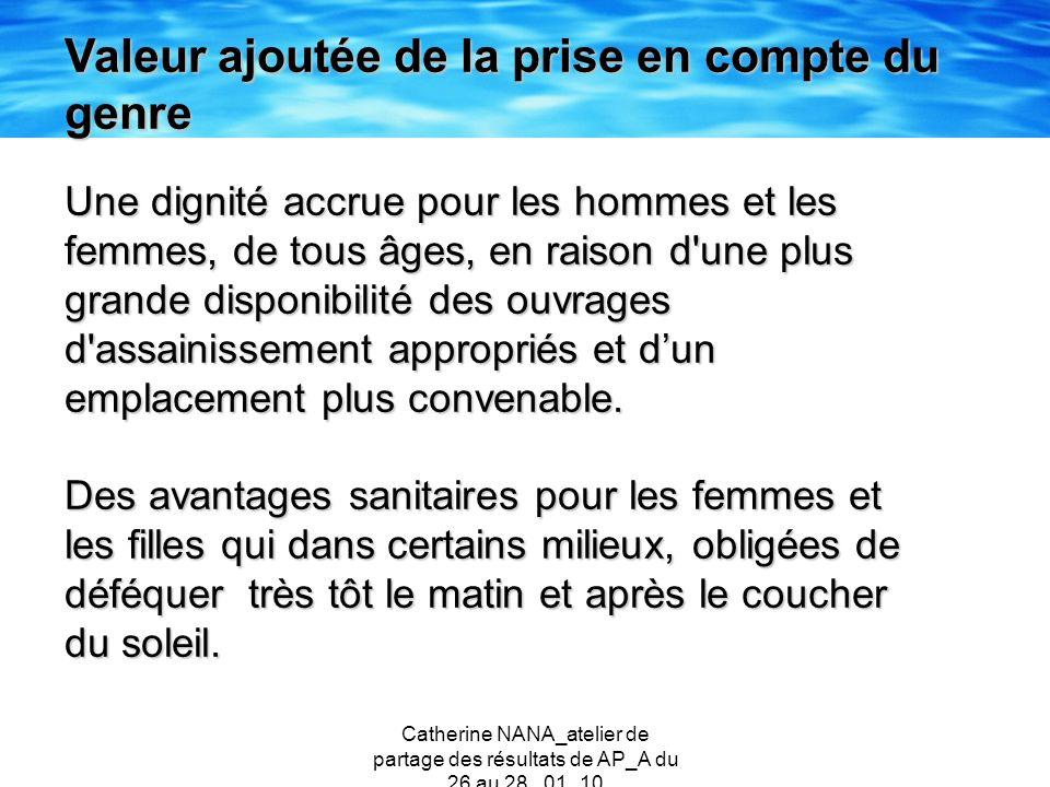 Catherine NANA_atelier de partage des résultats de AP_A du 26 au 28 _01_10 Une dignité accrue pour les hommes et les femmes, de tous âges, en raison d