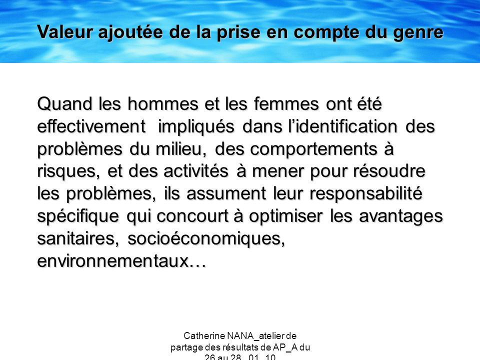 Catherine NANA_atelier de partage des résultats de AP_A du 26 au 28 _01_10 Quand les hommes et les femmes ont été effectivement impliqués dans lidenti