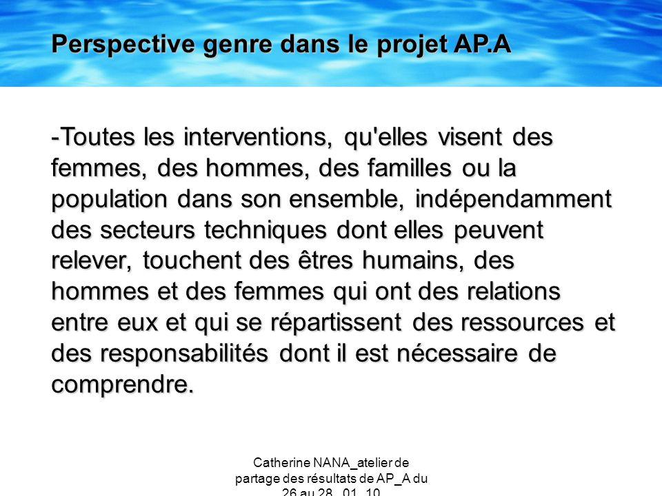 Catherine NANA_atelier de partage des résultats de AP_A du 26 au 28 _01_10 -Toutes les interventions, qu'elles visent des femmes, des hommes, des fami