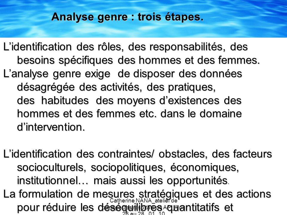 Catherine NANA_atelier de partage des résultats de AP_A du 26 au 28 _01_10 Lidentification des rôles, des responsabilités, des besoins spécifiques des