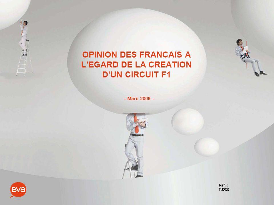 OPINION DES FRANCAIS A LEGARD DE LA CREATION DUN CIRCUIT F1 - Mars 2009 - Réf. : TJ286