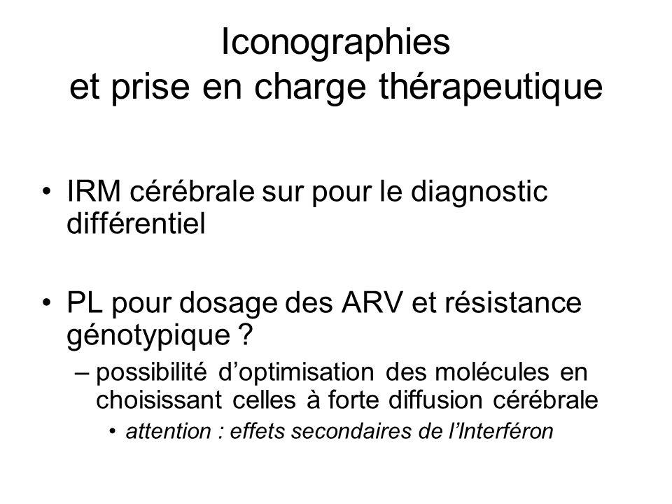 Iconographies et prise en charge thérapeutique IRM cérébrale sur pour le diagnostic différentiel PL pour dosage des ARV et résistance génotypique ? –p