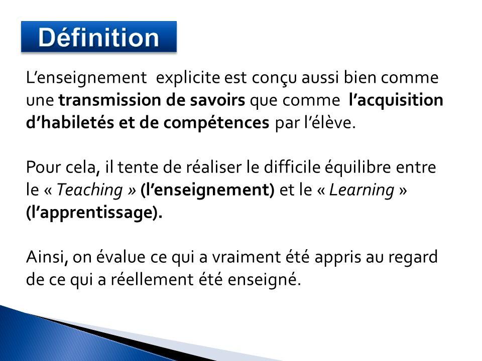 1.Mise en situation 5 à 8 min - Lenseignant présente lobjectif dapprentissage et les résultats attendus.