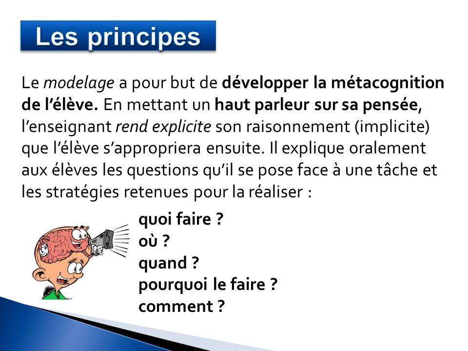 Exemple dune leçon sur le sujet du verbe : Après avoir fait rappeler la stratégie pour trouver un verbe conjugué (leçon précédente), lenseignant annonce lobjectif de la nouvelle leçon.