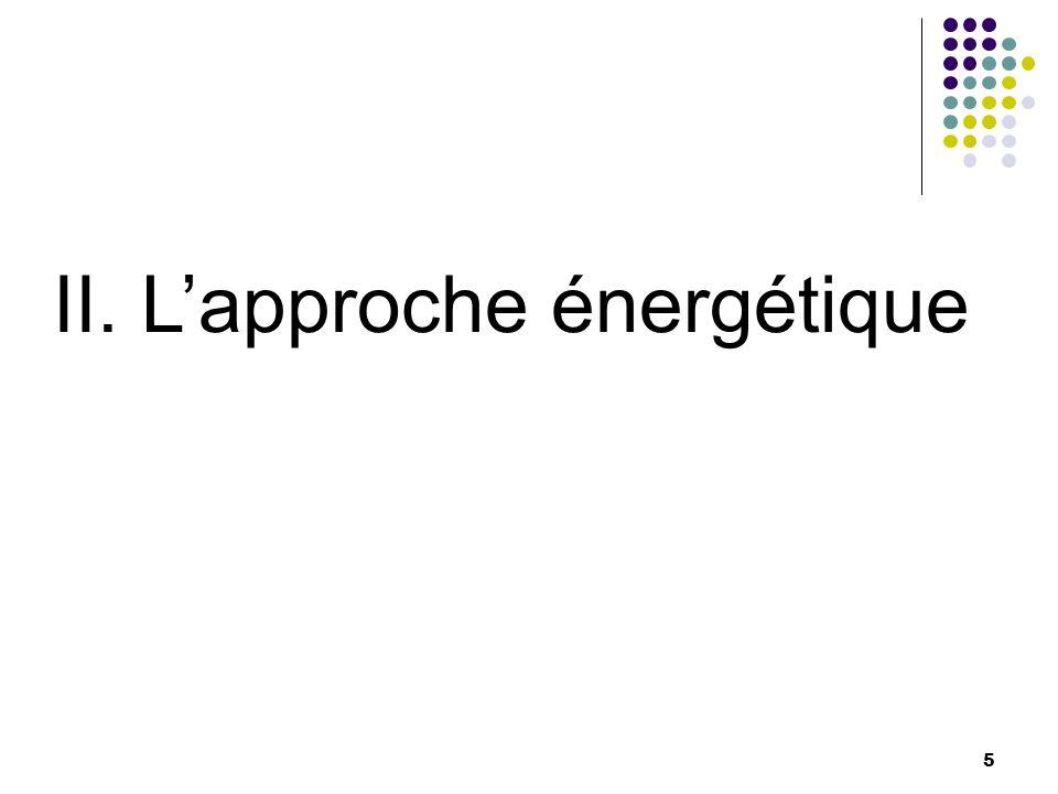 5 II. Lapproche énergétique