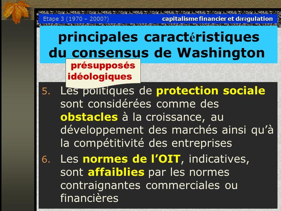 5. Les politiques de protection sociale sont considérées comme des obstacles à la croissance, au développement des marchés ainsi quà la compétitivité
