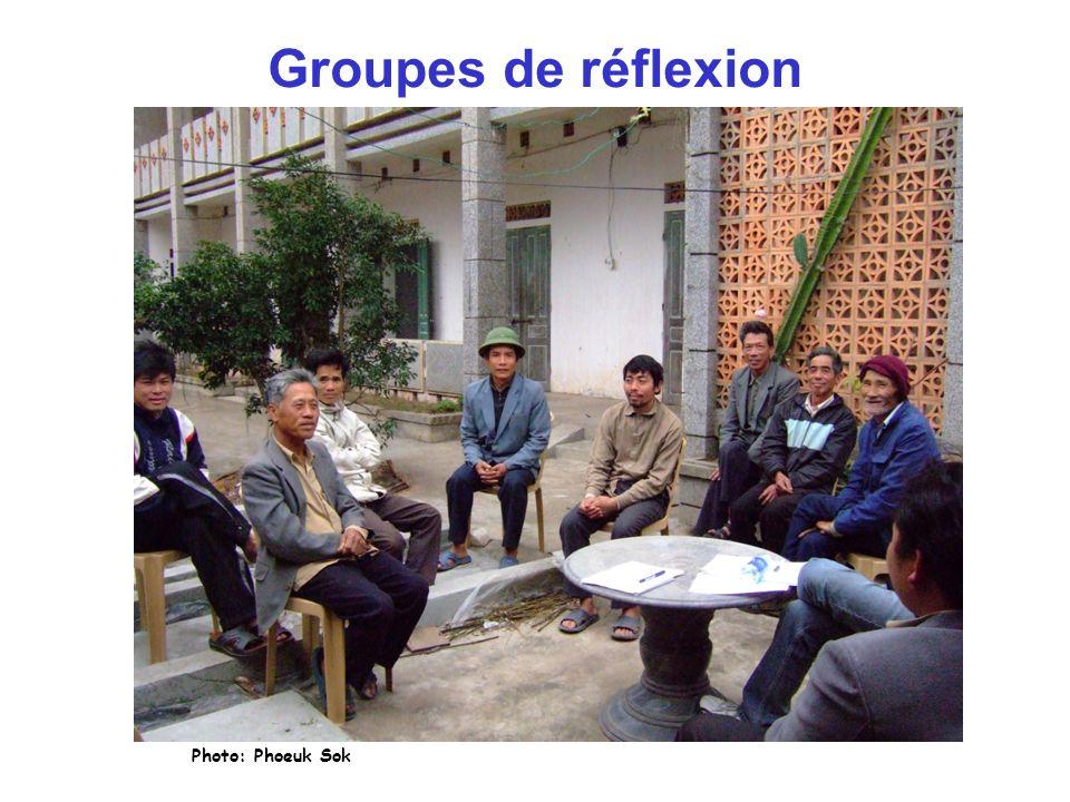 Groupes de réflexion Photo: Phoeuk Sok