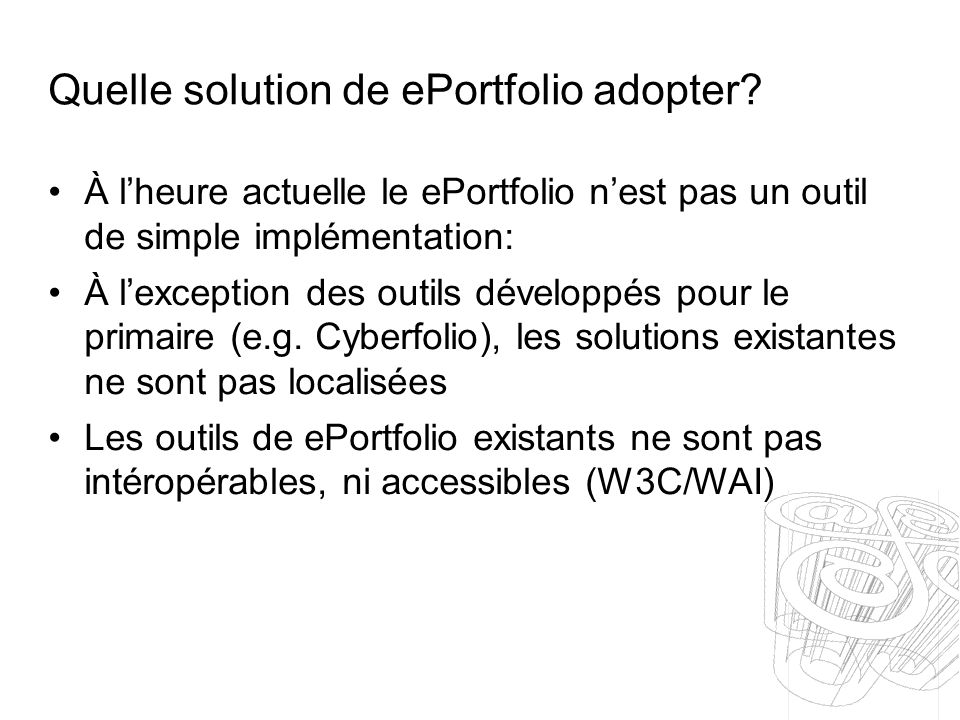 Quelle solution de ePortfolio adopter.
