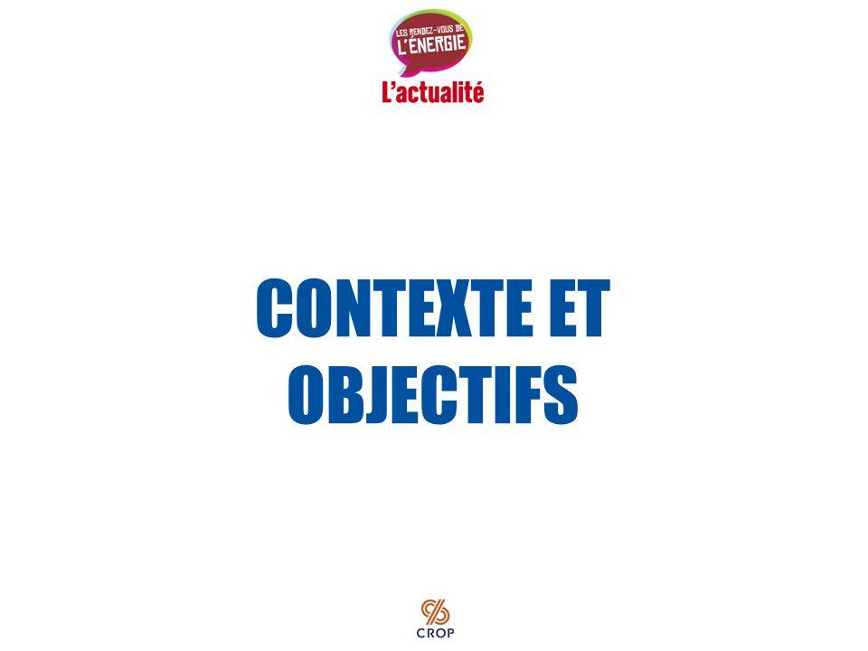 Septembre 2010 PERCEPTION DES QUÉBÉCOIS À LÉGARD DES QUESTIONS ÉNERGÉTIQUES Résultats du sondage
