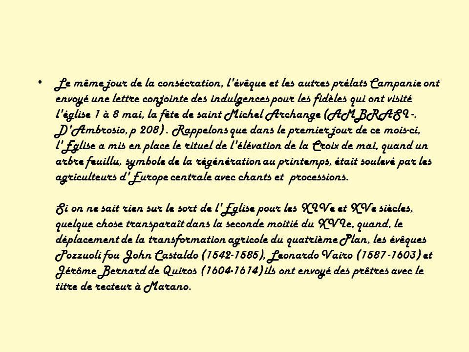 L intérêt de l église à la nouvelle rurale Quarto colonies puteolana a vu un épisode contemporain.