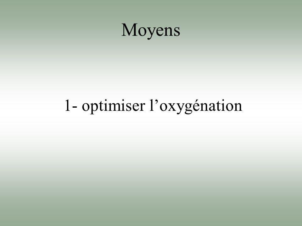 Moyens 1- optimiser loxygénation