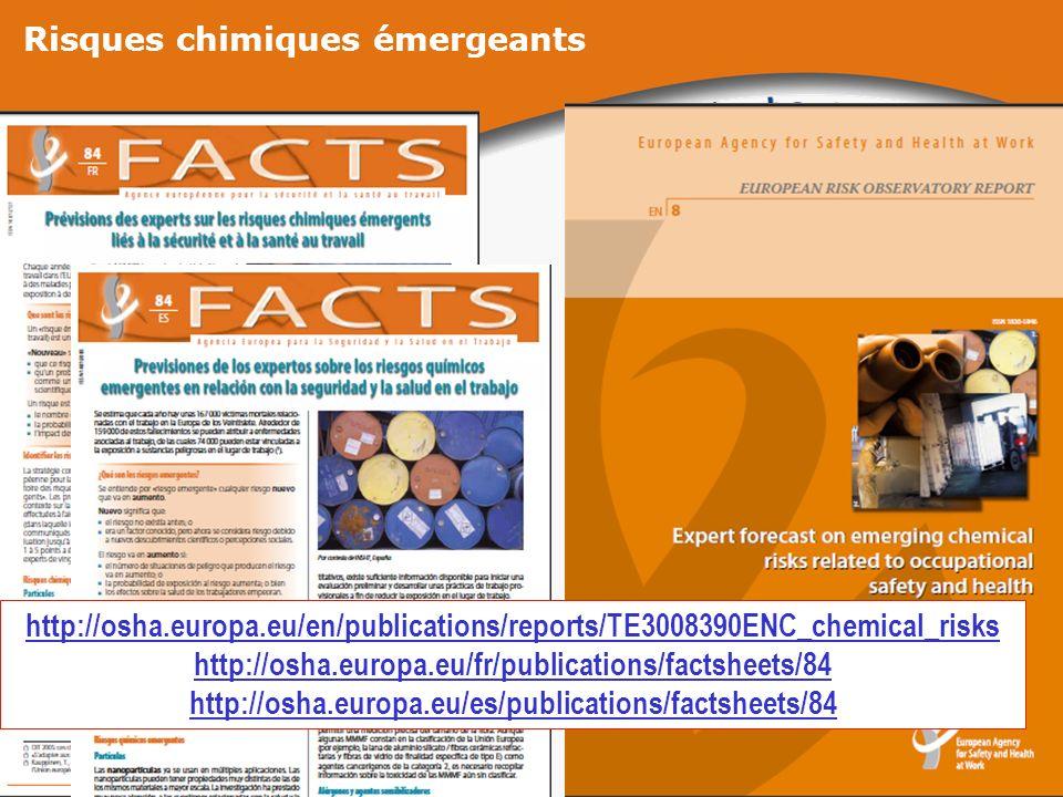 Risques chimiques émergeants http://osha.europa.eu/en/publications/reports/TE3008390ENC_chemical_risks http://osha.europa.eu/fr/publications/factsheet