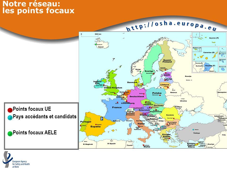 Notre réseau: les points focaux Points focaux UE Points focaux AELE Pays accédants et candidats
