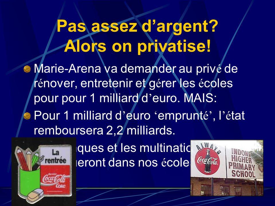 16 novembre : interruption de travail des enseignants Pour combler le trou de 5 milliards d euro, le ministre de l enseignement Arena a pr é vu la som