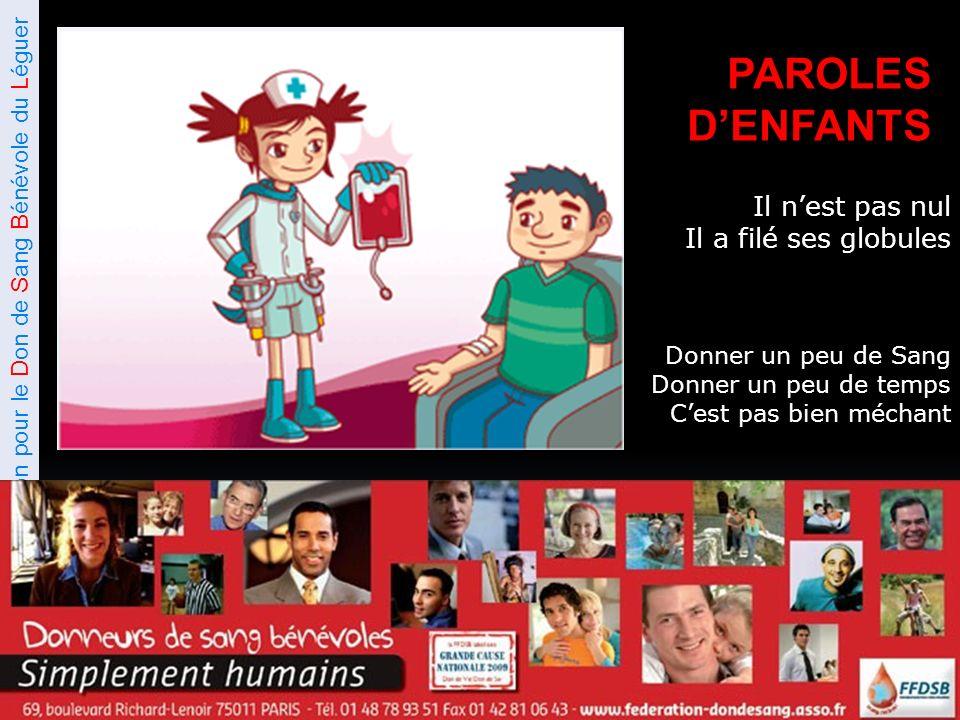 Association pour le Don de Sang Bénévole du Léguer Ils nous font confiance … …Faisons leur confiance Moi .