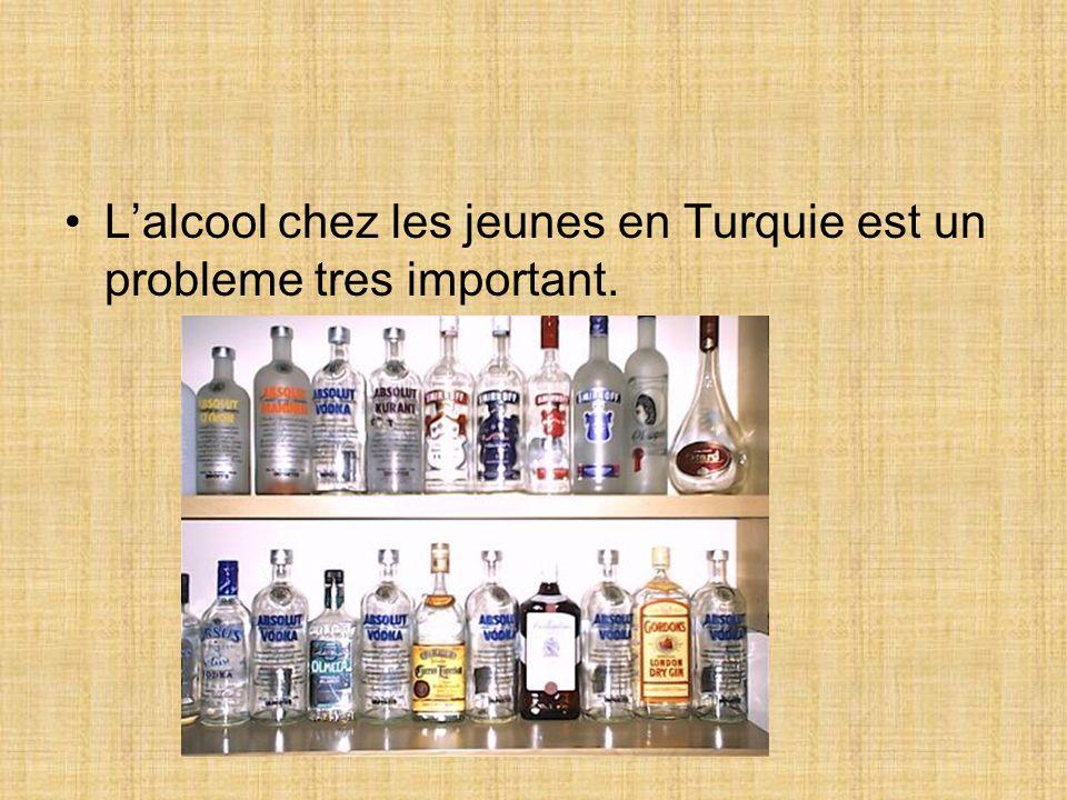 Lalcool chez les jeunes en Turquie est un probleme tres important.