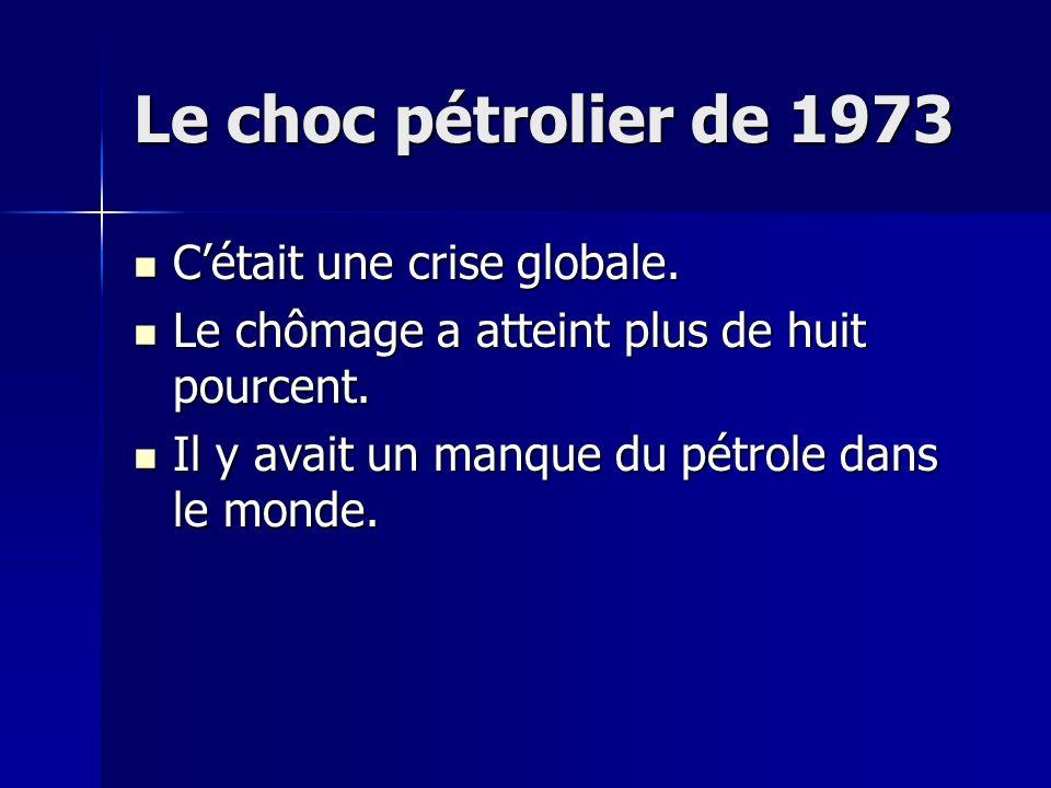 La crise économique de 1929 Le problème était résolu au contexte politique, et Les Trentes Années Glorieuses lont suivi. Pendant les années trentes, l