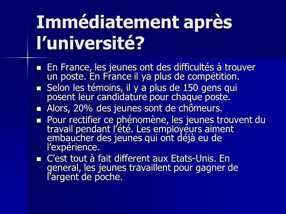 Les Jeunes (aux Etats- Unis et en France) Il y a une vaste différence entre les jeunes aux États-Unis et en France. Il y a une vaste différence entre