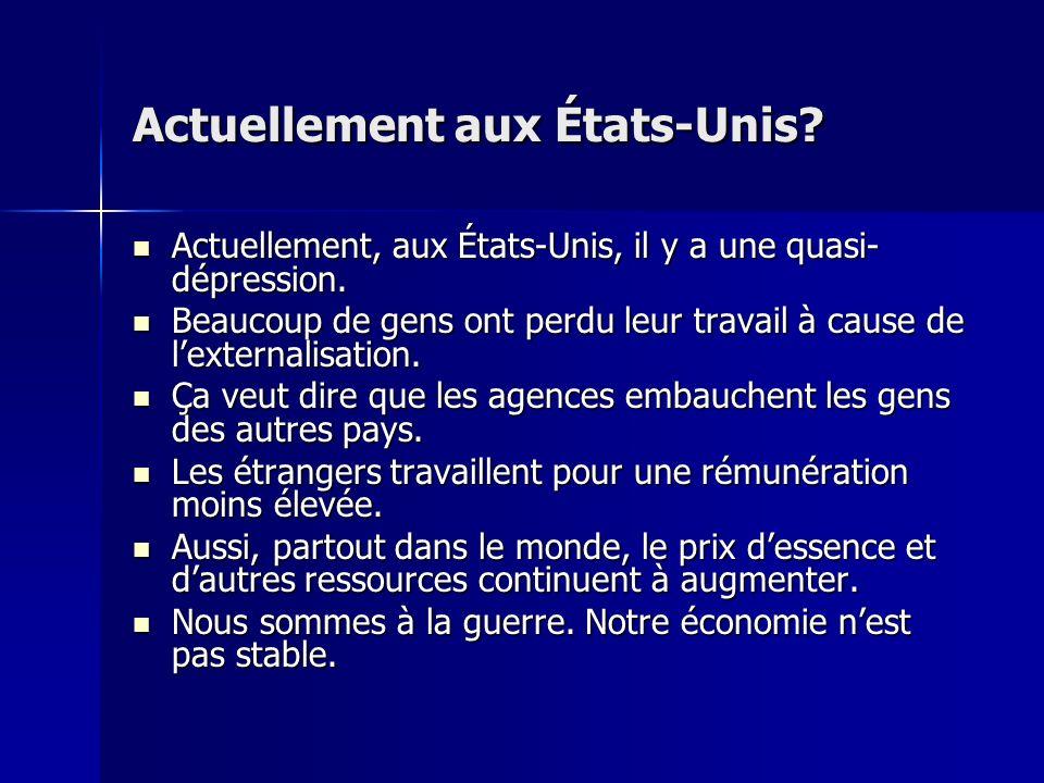 Actuellement en France? Bien quil y ait une diminution de chômage en France, le chomage est encore un problème énorme. Bien quil y ait une diminution