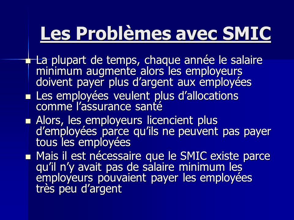 MONTANT DU SALAIRE MINIMUM DE CROISSANCE (SMIC) Année SMIC horaire brut SMIC mensuel brut en euros Date de parution en euros pour 151,67h de travail p