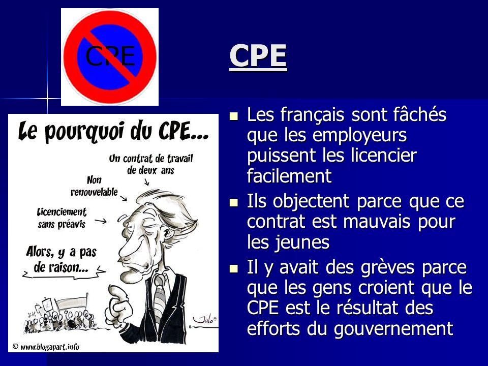 CPE Le Contrat Première Embauche Le Contrat Première Embauche Cétait un nouveau contrat de travail présenté en 2006 Cétait un nouveau contrat de trava
