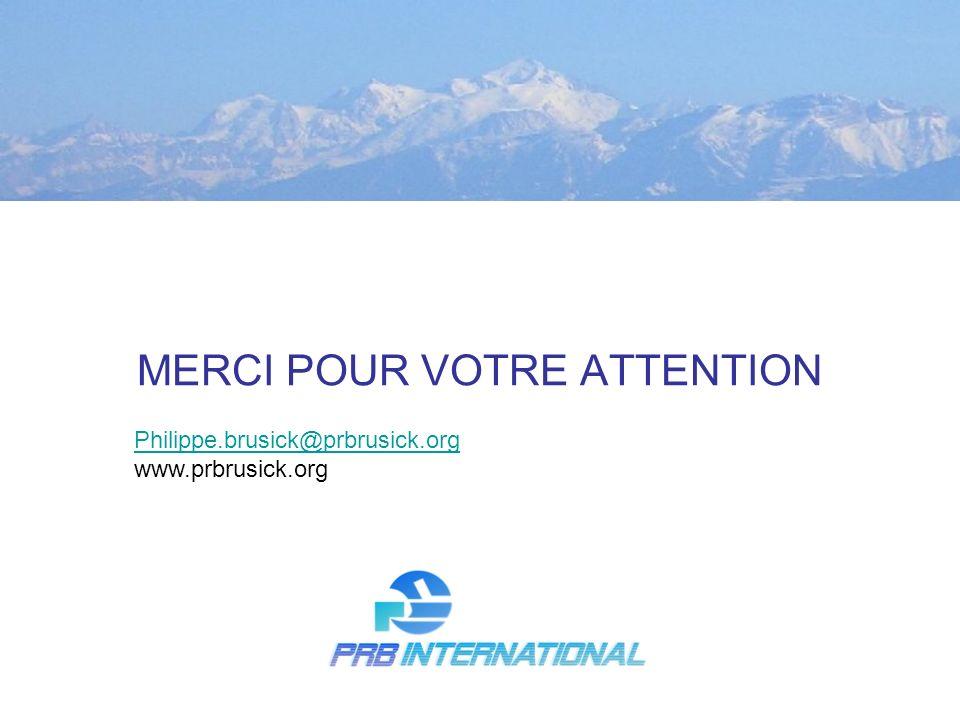 MERCI POUR VOTRE ATTENTION Philippe.brusick@prbrusick.org www.prbrusick.org