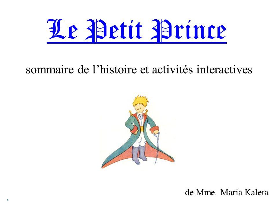 SOURCES http://www.cim.mcgill.ca/~sbouix/petit_prince/html/lpp0.html Saint-Exupéry, Antoine de.