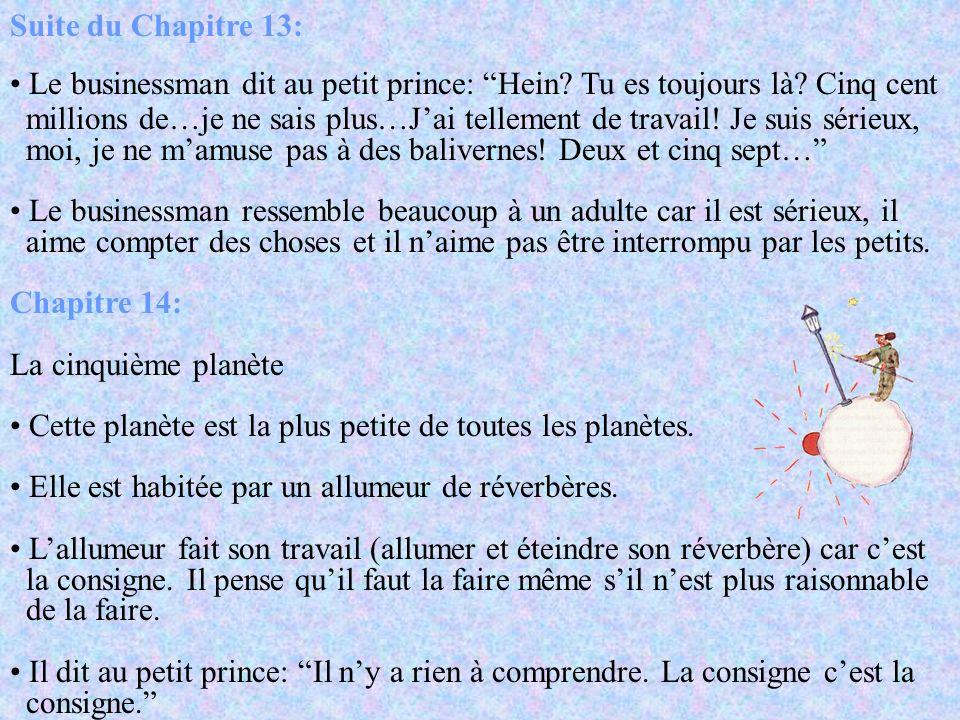Chapitre 12: La troisième planète Cette planète est habitée par un buveur. Le buveur dit au petit prince Je bois…pour oublier que jai honte…de boire.