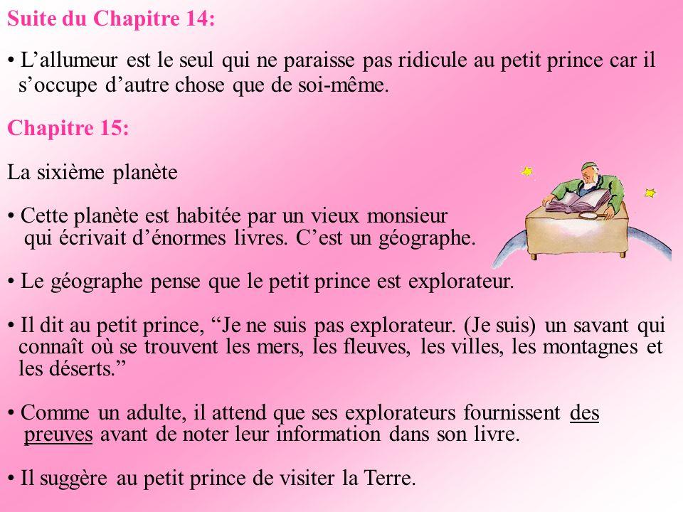 Suite du Chapitre 13: Le businessman dit au petit prince: Hein? Tu es toujours là? Cinq cent millions de…je ne sais plus…Jai tellement de travail! Je