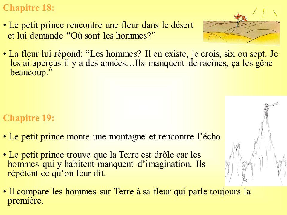 Chapitre 16: La septième planète = la Terre Le petit prince compare lusage délectricité sur la Terre à une danse des allumeurs de réverbères. Chapitre