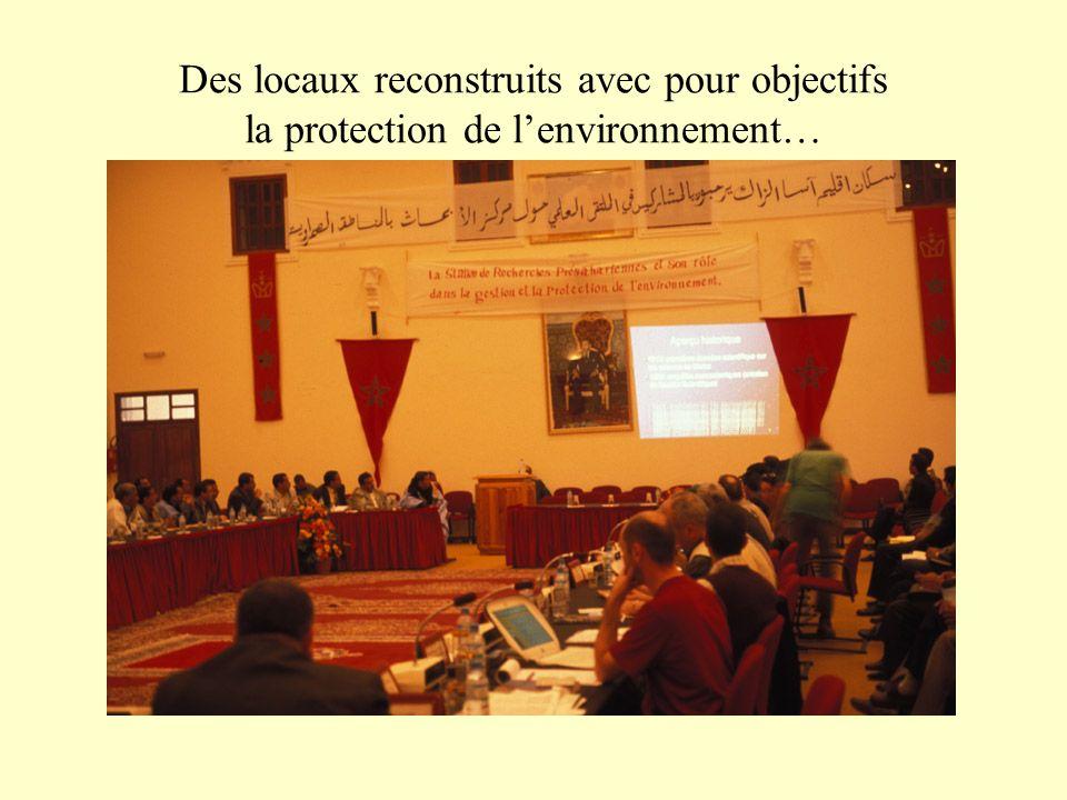 Des locaux reconstruits avec pour objectifs la protection de lenvironnement…