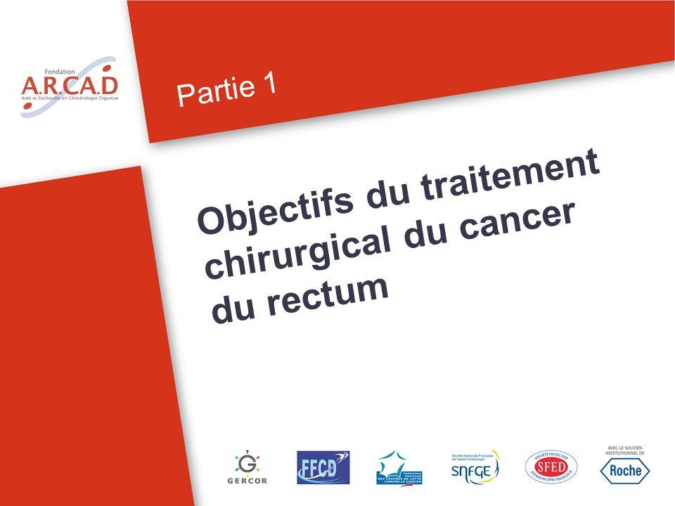 Partie 1 Objectifs du traitement chirurgical du cancer du rectum