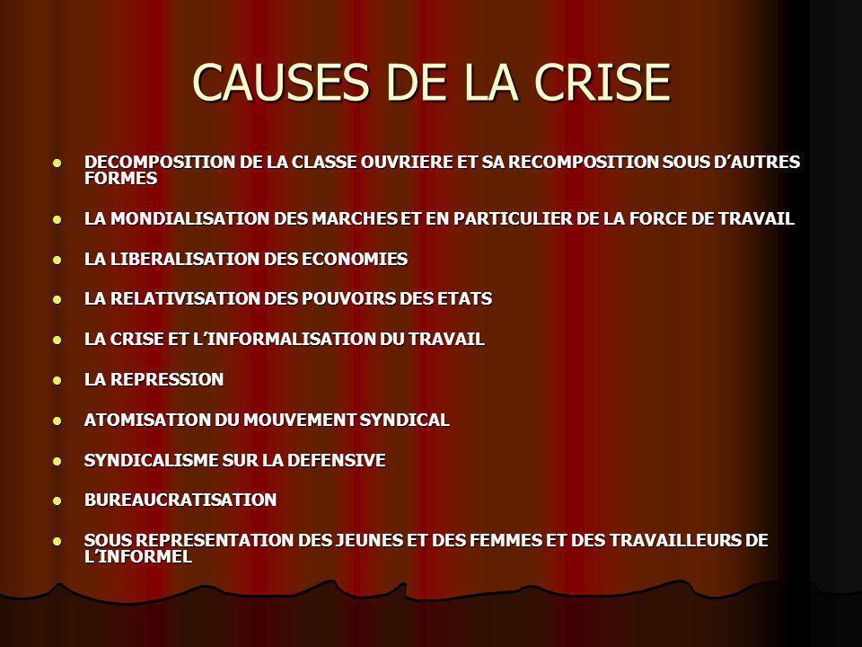 LES ENJEUX REMISE EN CAUSE DE TOUS LES ACQUIS ARRACHES DE HAUTE LUTTE REMISE EN CAUSE DE TOUS LES ACQUIS ARRACHES DE HAUTE LUTTE EXTENSION DE LA PAUVRETE ET ACCROISSEMENT DES FORMES DEXPLOITATION DES MASSES LABORIEUSES EXTENSION DE LA PAUVRETE ET ACCROISSEMENT DES FORMES DEXPLOITATION DES MASSES LABORIEUSES MENACES SUR LEQUILIBRE SOCIAL NATIONAL ET/OU MONDIAL MENACES SUR LEQUILIBRE SOCIAL NATIONAL ET/OU MONDIAL METTRE LES PROGRES TECHNOLOGIQUES AU SERVICE DU PROGRES ECONOMIQUE ET SOCIAL METTRE LES PROGRES TECHNOLOGIQUES AU SERVICE DU PROGRES ECONOMIQUE ET SOCIAL