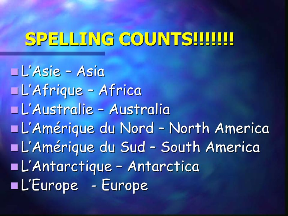 SPELLING COUNTS!!!!!!.