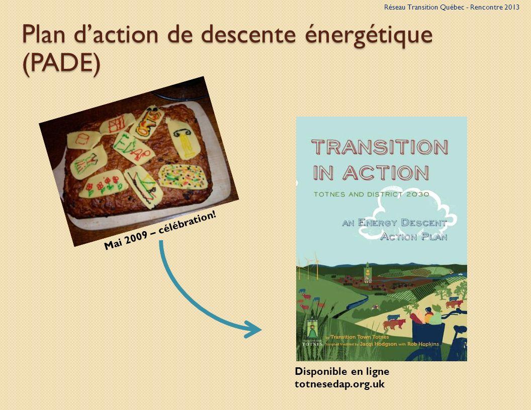 Plan daction de descente énergétique (PADE) Mai 2009 – célébration.