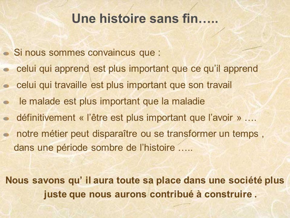 Une histoire sans fin…..