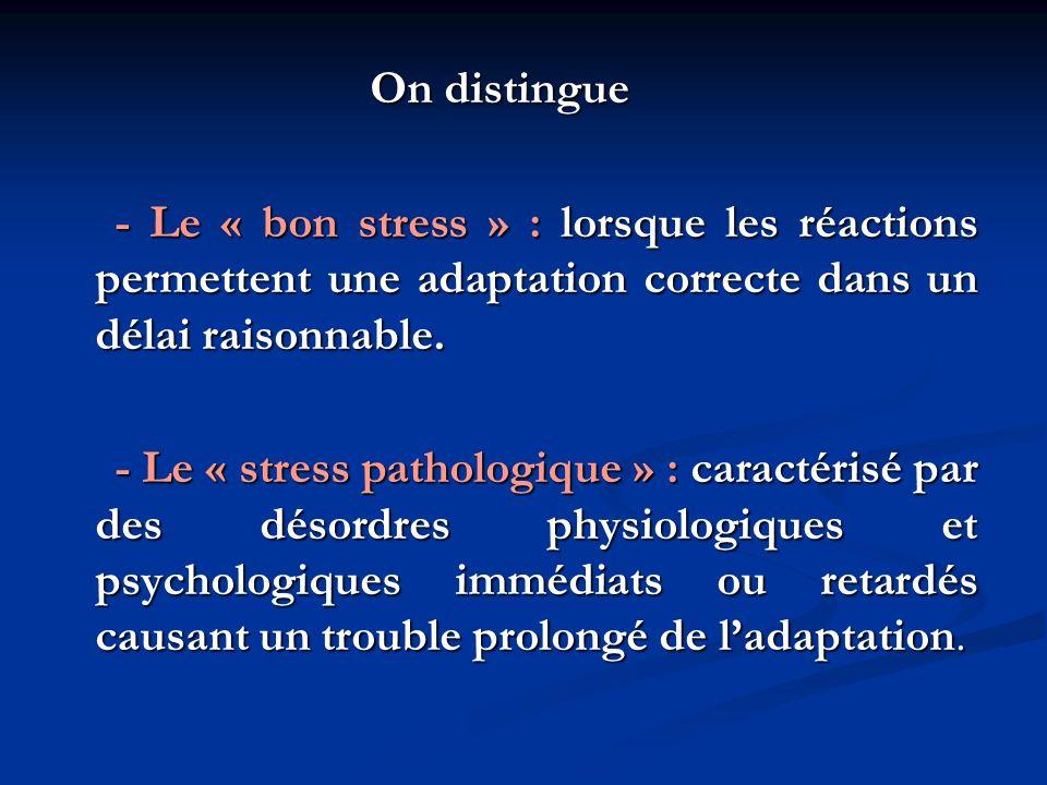 Information et éducation La façon de faire face au stress est variable selon les individus et chez une même personne à différents moments de la vie.