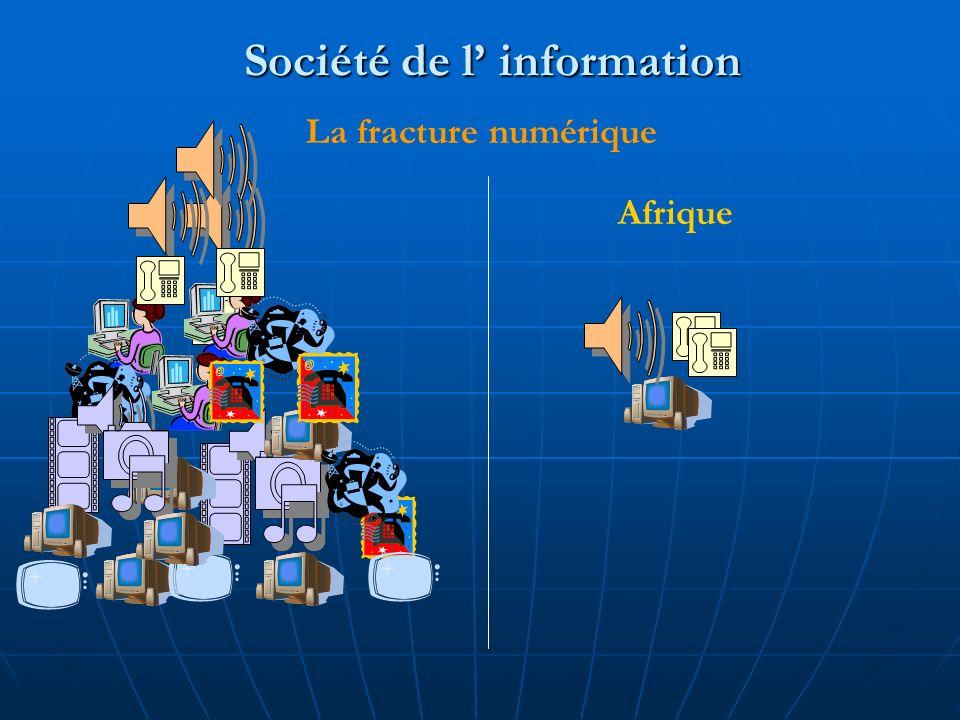 Société de l information La fracture numérique Afrique
