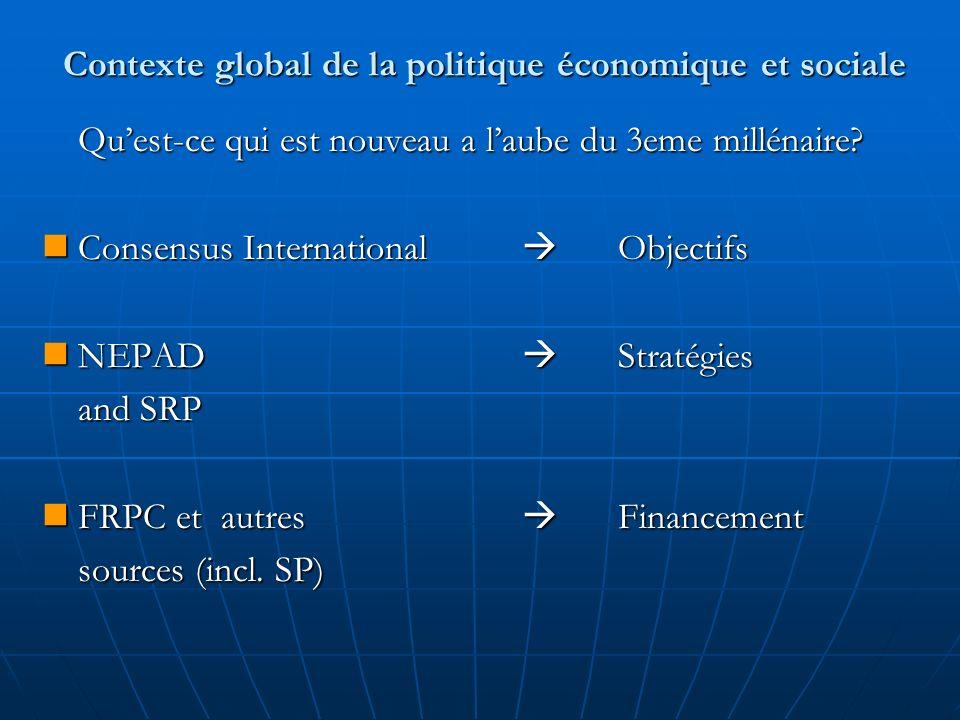 Contexte global de la politique économique et sociale Quest-ce qui est nouveau a laube du 3eme millénaire.