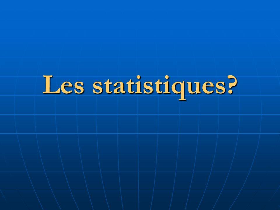 Les statistiques?