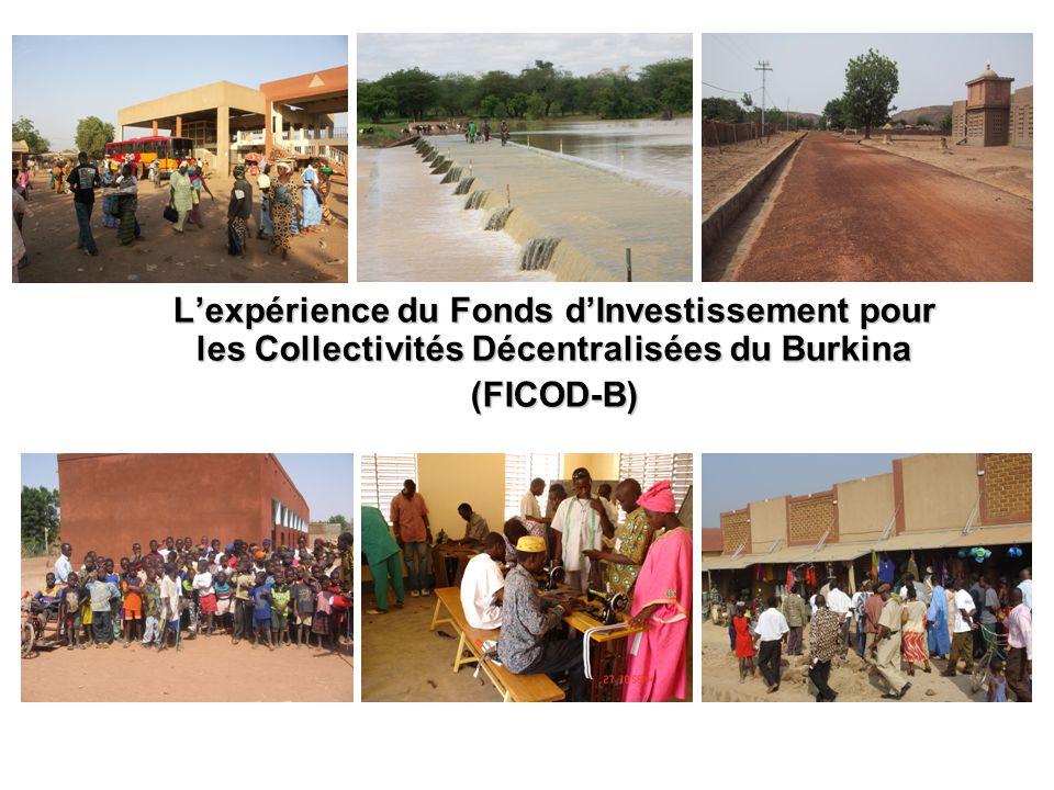 PRÉSENTATION DU FICOD FICOD est le fruit de la coopération entre le Burkina Faso et la République Fédérale dAllemagne à travers lagence allemande de financement du développement, la KfW, qui a consenti au Burkina Faso un apport financier sous forme daide non remboursable.