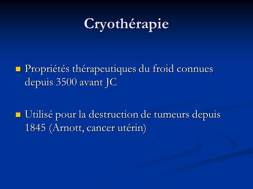 Cryothérapie Propriétés thérapeutiques du froid connues depuis 3500 avant JC Propriétés thérapeutiques du froid connues depuis 3500 avant JC Utilisé p