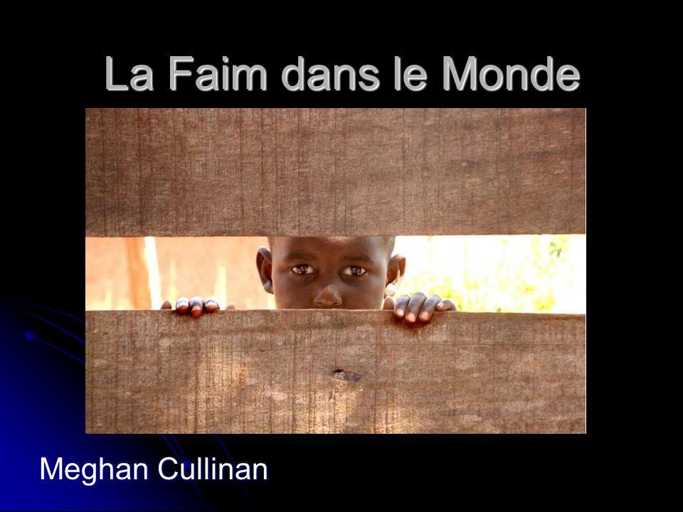 La Faim dans le Monde Meghan Cullinan