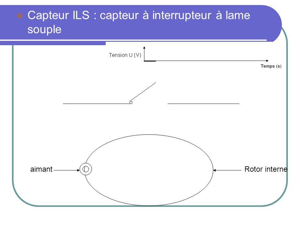Capteur ILS : capteur à interrupteur à lame souple Rotor interneaimant