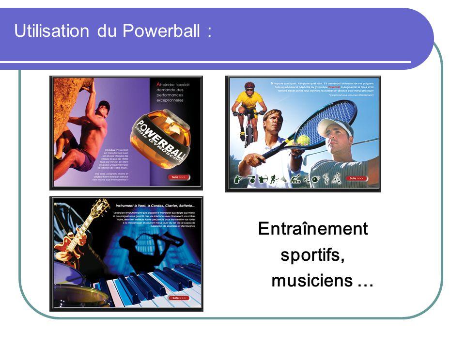 Entraînement sportifs, musiciens … Utilisation du Powerball :