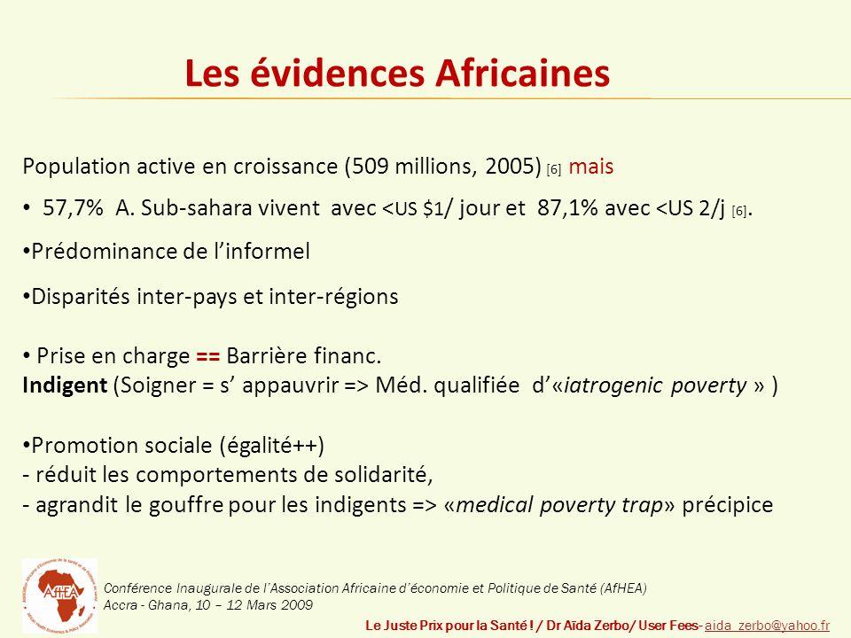 Conférence Inaugurale de lAssociation Africaine déconomie et Politique de Santé (AfHEA) Accra - Ghana, 10 – 12 Mars 2009 Le Juste Prix pour la Santé .