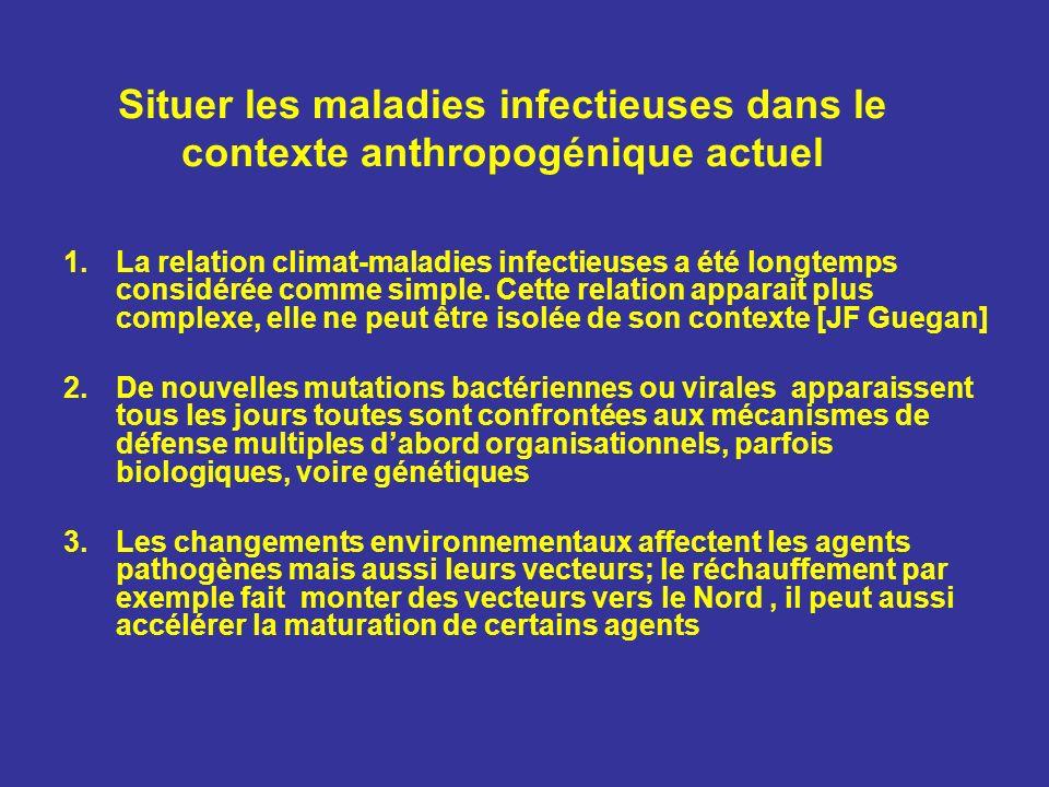 Situer les maladies infectieuses dans le contexte anthropogénique actuel 1.La relation climat-maladies infectieuses a été longtemps considérée comme s