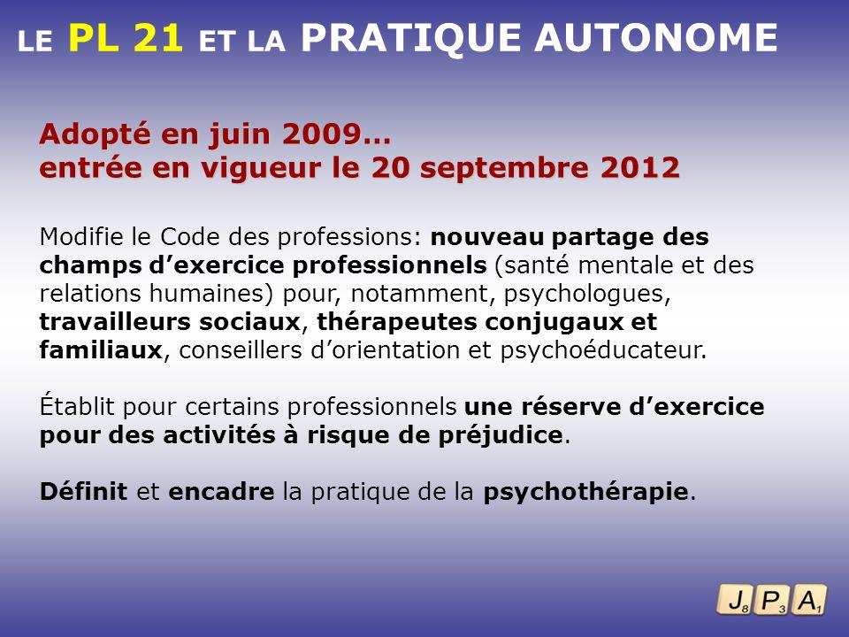 Modifie le Code des professions: nouveau partage des champs dexercice professionnels (santé mentale et des relations humaines) pour, notamment, psycho