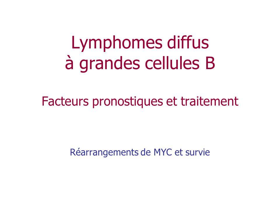 Lymphomes diffus à grandes cellules B Facteurs pronostiques et traitement Réarrangements de MYC et survie