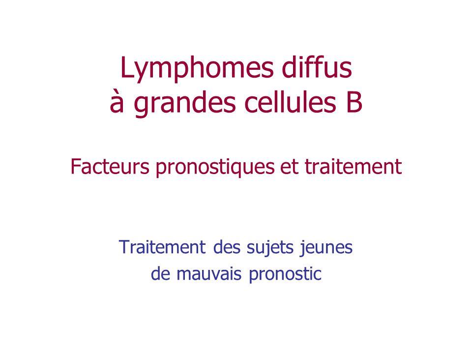Lymphomes diffus à grandes cellules B Facteurs pronostiques et traitement Traitement des sujets jeunes de mauvais pronostic